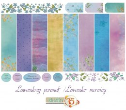 Lavender morning 12x12 scrapbooking paper set