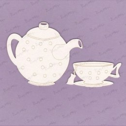 Tea time die cut chipoboard