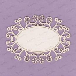 Frame die cut chipboard