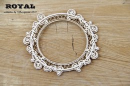 Lase cut chipboard -round frame- Royal - 2 layers - Scrapiniec