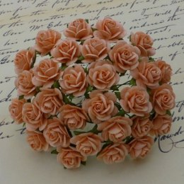 Mullberry roses peach - 15mm