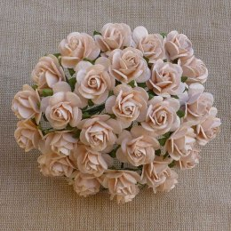 Mullberry roses - pale peach, 15mm