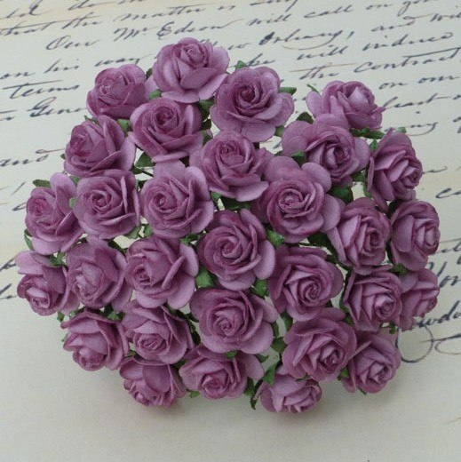 Mullberry roses lilac - 20mm