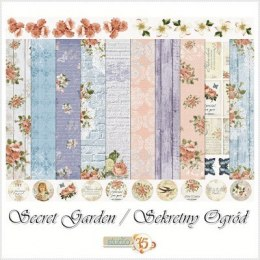 Secret garden scrapbooking paper set 12x12
