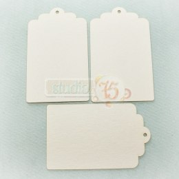 Chipboard tags 01 - 3 pcs.