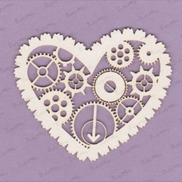 Die cut chipboard - heart