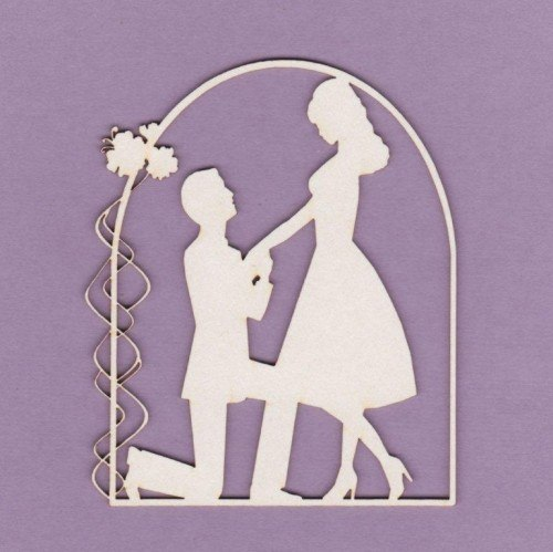 Wedding die cut chipboard