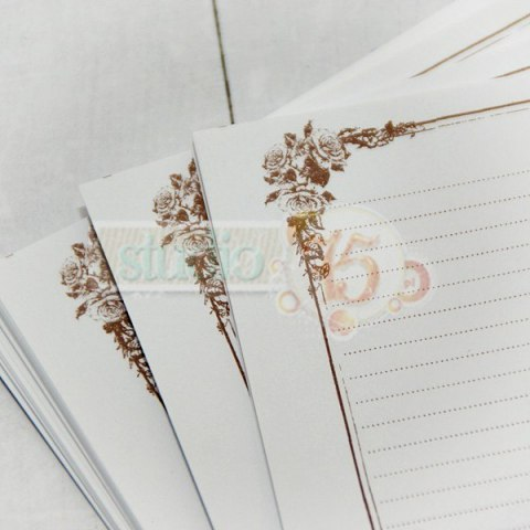 Notebook inner pages - roses A4