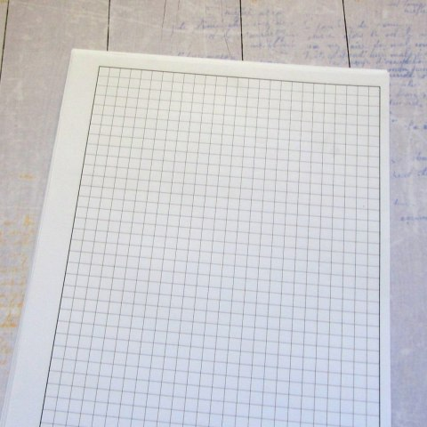 Inner pages for notebook, grid black