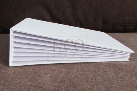 16x21 cm Hidden hinge album, white, 6 cards