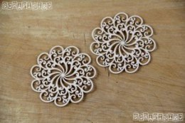 Doily Lace - 2 Medium rosettes