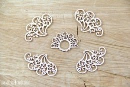Doily Lace - Lace corners set