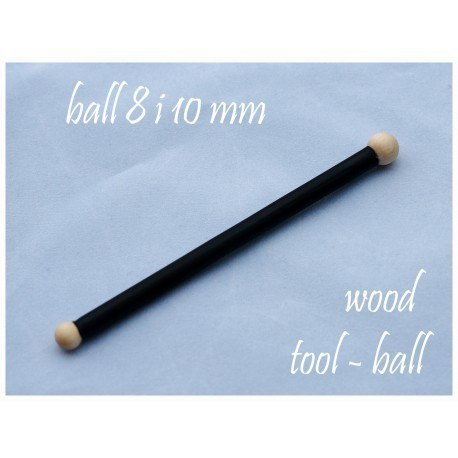 Wooden ball , 8 and 10 mm