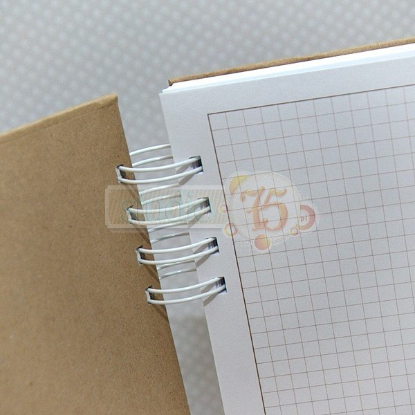 Notebook with hard covers, craft