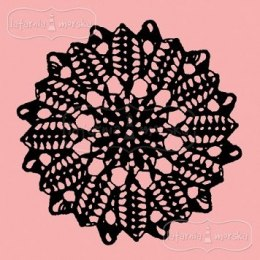 Rubber stamp- doily lace