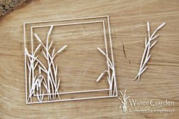 Water plants - Cattail square frame