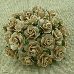 LIGHT MOCHA MULBERRY ROSES,20mm