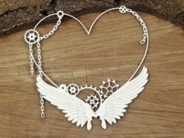 Steampunk - Flying hearts - Big heart frame