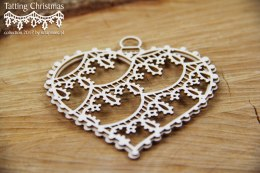 Tatting christmas - small hearts