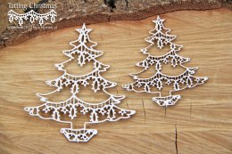 Tatting christmas - christmas trees