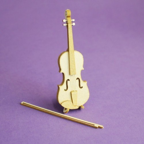 Violin 3D- die cut chipboard