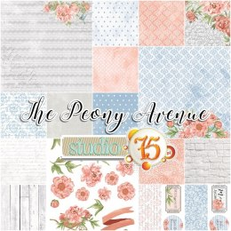 The Peony Avenue 12x12 scrapbooking paper set