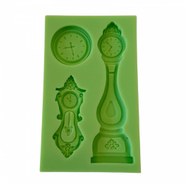Silicone mould - clocks - 3 pcs