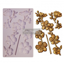 Silicone mould - Botanical Blosoms -Prima Redesign - 20x13 cm