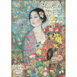 Decoupage rice paper - lady - Atelier - Stamperia