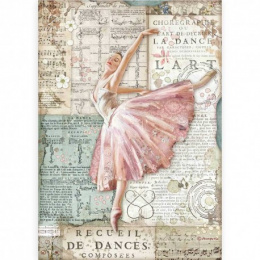 Decoupage rice paper- ballet dancer - Stamperia