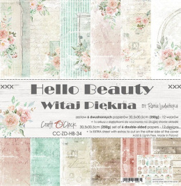 Scrapbooking papers pad - Hello Beauty