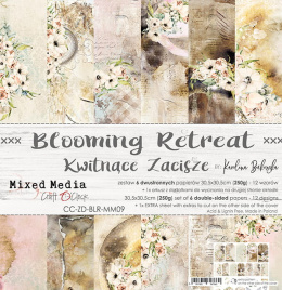 Scrapbooking papers pad - zestaw Blooming Retreat