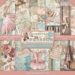 Scrapbooking paper - 30x30 set - Passion - Stamperia