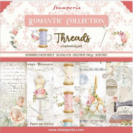 Scrapbooking paper - 30x30 set - Threads- Stamperia