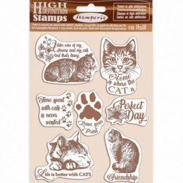 Scrapbooking stamps - cats - Stamperia - 14x18 cm