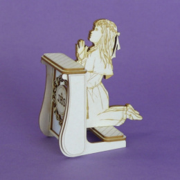 3d laser cut chipboard - girl