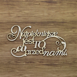 Laser cut chiboard with Polish titles