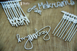 Laser cut chipboard - macrama - 5 pcs