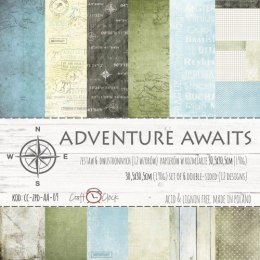 Adventure Awaits 12x12 paper set