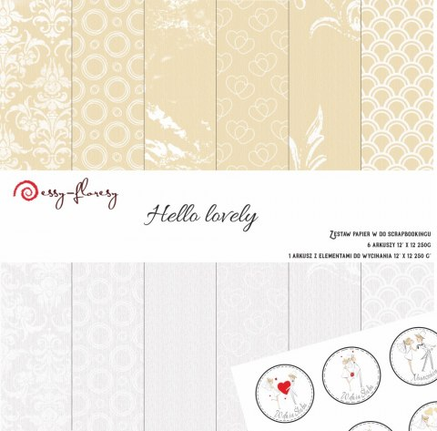 Hello Lovely paper set, 7 pcs