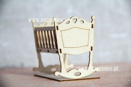 3D Laser cut chipboard - Baby Crib - Scrapiniec