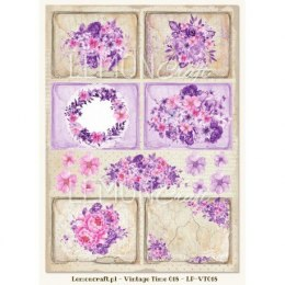 One-sided scrapbooking paper - Vintage Time 018
