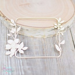 Rectangular frame with flowers
