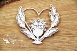 Tatting Communion - 2 layers Heart frame