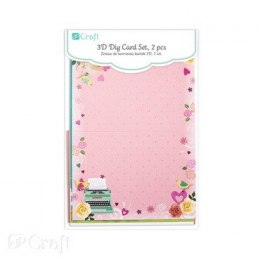 3D DIY CARD SET - SPRING, 2 PCS