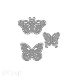 CUTTING DIES 3 PCS BUTTERFLY, 12 CM X 12 CM