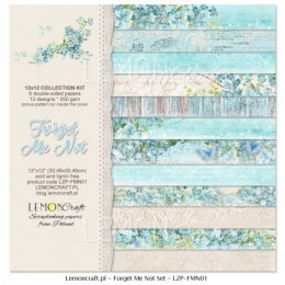 Set of scrapbooking papers - Forgot me not