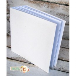Hidden hinge album, 25x25 white, 8 cards