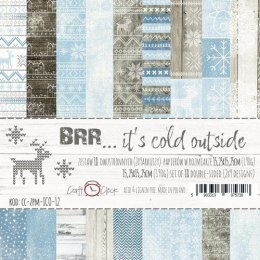 BRR... IT'S COLD OUTSIDE - a set of papers 15,25x15,25cm