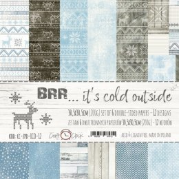 BRR... IT'S COLD OUTSIDE - a set of papers 30,5x30,5cm